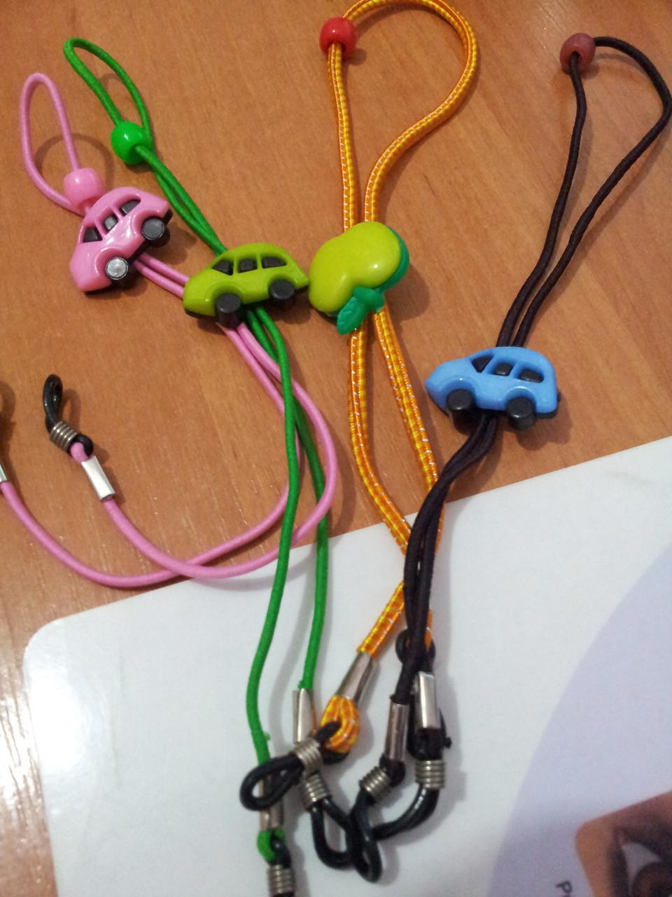 Шнурок для очков детский с ограничителем по голове - фото 1