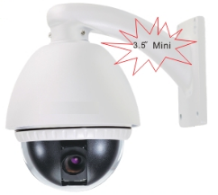 Мини высокоскоростная HD IP камера 2.4Мп, 10-кратный оптический зум