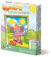 Рисунок с пайетками «Слоненок», набор для творчества
