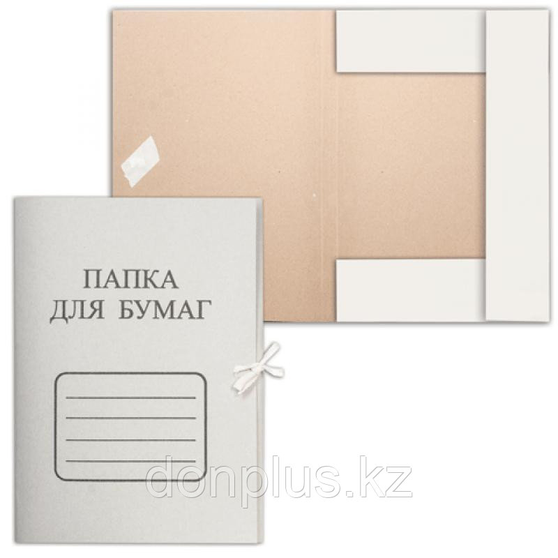 Папка с завязками, картон