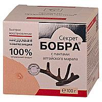 Секрет бобра с пантами алтайского марала- восстанавливающий,медовая композиция - 100г