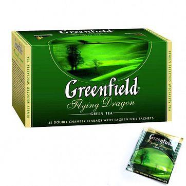 Чай Greenfield Flying Dragon Green Tea, 25 пакетиков