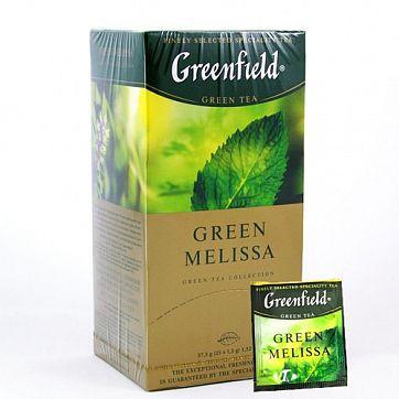 Чай Greenfield Green Melissa Tea, 25 пакетиков