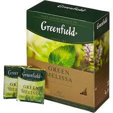 Чай Greenfield Green Melissa Tea, 100 пакетиков
