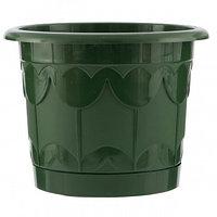 Горшок Тюльпан с поддоном, зеленый, 6 литров PALISAD