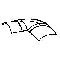 Угол плоский для напольного каналь-канала 92х20