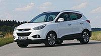 Хром на передние фары Hyundai Tuscon (IX35) 2014-16
