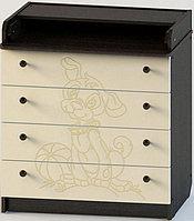 Комод раскладной АТОН КР 80/4 с рисунком татошка (венге/ваниль) ПВХ