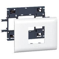 Суппорт/Рамка 2 модуля, DLP Крышка 85мм