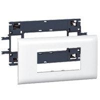 Суппорт/Рамка 4 модуля, DLP Крышка 85мм