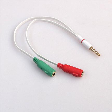 3.5 мини джек сплитер для микрофона (разделяет каналы на микрофон и наушник), фото 2