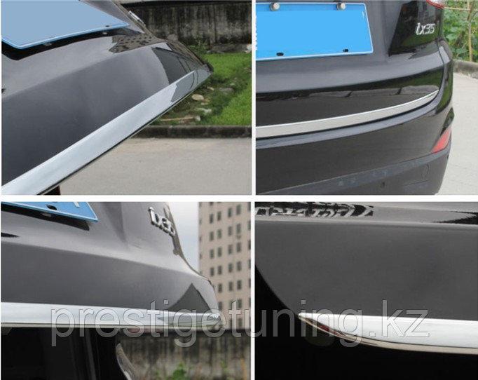 Хром накладки на крышку багажника Hyundai Santa Fe IX45 2013+