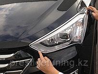 Хром передних фар Hyundai Santa Fe IX45