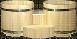 Круглые двойные купели из кедра. Размеры: диаметр 1000 мм, фото 2