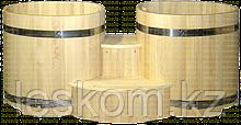 Двойная круглая купель из кедра диаметр 1500мм