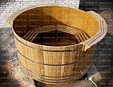 Круглая купель из кедра. Размеры: 1000х1000х1200 мм, фото 3
