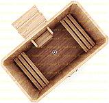 Квадратная купель из кедра. Размеры: 1500х1500х1200 мм , фото 2