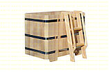 Квадратная купель из кедра. Размеры: 1000х1000х1200 мм, фото 2