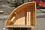 Угловая купель из кедра. Размеры: длина 1500 мм* 1500 мм* 1200 мм, фото 2