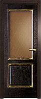 Межкомнатная дверь остекленная Вельми черный дуб патина