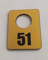 Гардеробный номерок 3х4 см