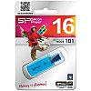 Память SiliconPower USB Flash  16GB USB2.0 Helios 101 голубой (металл.корпус)