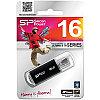 Память SiliconPower USB Flash  16GB USB2.0 Ultima II черный (металл.корпус)