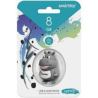 Память Smart Buy USB Flash   8Gb Бегемот, серый