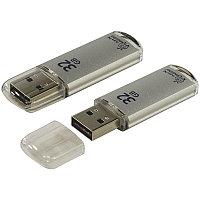 Память Smart Buy USB Flash  32GB V-Cut серебристый (металл.корпус)