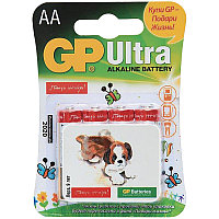"Батарейка LR06 GP Ultra Alkaline ""Подари Жизнь"" 15AU BC4"