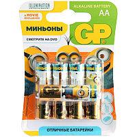 """Батарейка LR06 GP Alkaline """"Миньоны"""" 15AU BC5"""