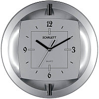 Часы настенные ход плавный, офисные SCARLETT SC-55FT