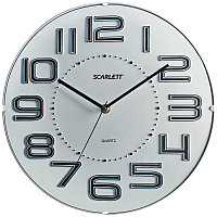 Часы настенные ход плавный, офисные SCARLETT SC-55O