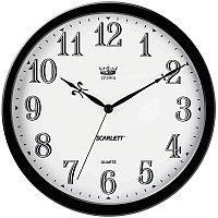 Часы настенные ход плавный, офисные SCARLETT SC-WC1004O