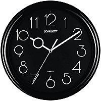 Часы настенные ход шаговый, офисные SCARLETT SC-09B