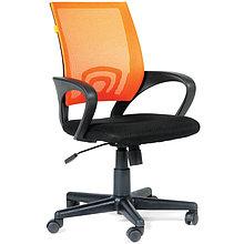 """Кресло оператора """"Chairman 696"""" PL, спинка ткань-сетка оранжевая/сиденье TW чёрная, механизм качания"""