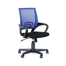 """Кресло оператора """"Chairman 696"""" PL, спинка ткань-сетка синяя/сиденье TW чёрная, механизм качания"""