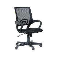 """Кресло оператора """"Chairman 696"""" PL, спинка ткань-сетка чёрная/сиденье TW чёрная, механизм качания"""