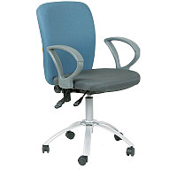 """Кресло оператора """"Chairman 9801"""" CH,  ткань, сиденье серое/спинка голубая, механизм качания"""