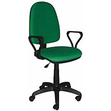 """Кресло оператора """"Престиж"""", ткань зелёная с чёрным"""