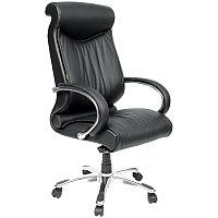 """Кресло руководителя """"Chairman 420"""" CH, кожа чёрная, механизм качания"""