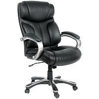 """Кресло руководителя """"Chairman 435"""" СН, кожа чёрная, механизм качания"""