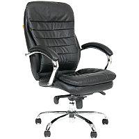 """Кресло руководителя """"Chairman 795"""" CH, кожа чёрная, механизм качания"""