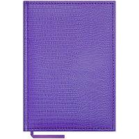 """Ежедневник недатированный А5 160л., кожзам, """"Reptile"""", фиолетовый"""