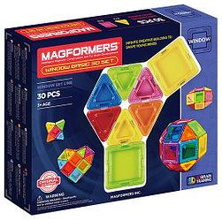 Magformers Магнитный конструктор Базовый Набор Window Set из 30 элементов