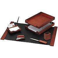 Набор настольный 6 предметов, темно-коричневый орех