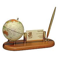 """Набор настольный """"Tasmania"""" 3 предмета, светлая вишня, диам. глобуса 9,6см"""