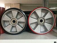 Колесо рулевое резина/алюминий (180*50*50). Для гидравлической тележки, фото 1