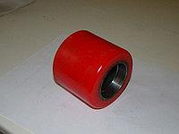 Ролик полиуретан/сталь (80х70мм)красный. Для гидравлической тележки, фото 1