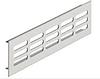 Решетка вентиляционная, алюминий, 1000 х 80 мм, овал.